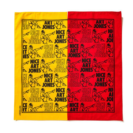 坩堝 | RUTSUBO×ALLRAID×HAV-A-HANK NICE ART JONES BANDANA (RED)
