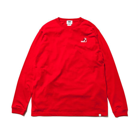 坩堝 | RUTSUBO×ALLRAID NICE ART JONES LS T-SHIRTS (RED)
