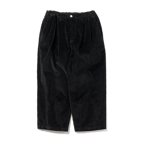 TIGHTBOOTH / CORD BAGGY PANTS (Black)