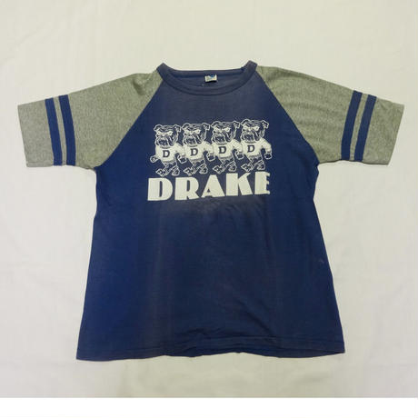 USED (古着)DRAKE ラグランTシャツ(ブルー/グレー)