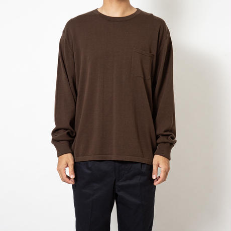 SON OF THE CHEESE | C100 long sleeve (BROWN)