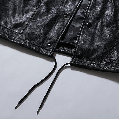 Oh!theGuilt:LEATHER COACH JACKET(ブラック)
