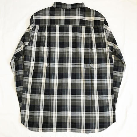 Oh!theGuilt: BIG SILHOUETTE PLAID BD SHIRT(ブラック/オリーブ/ホワイト)