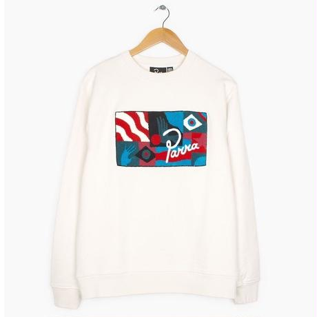 by Parra | grab the flag crew neck sweater (white)