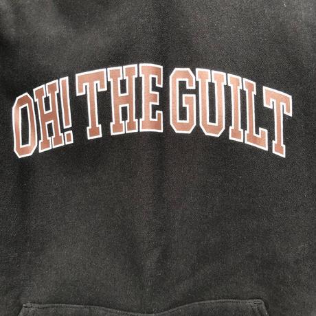 "Oh!theGuilt / ""COLLEGE"" HOOD  SWEAT (ブラック/ブラウン)"