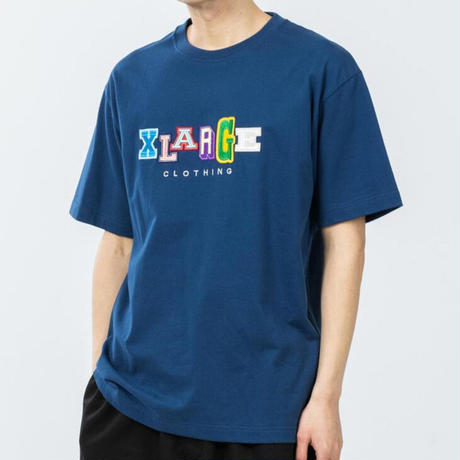 XLARGE   S/S TEE MULTI COLOR COLLEGE LOGO(NAVY)