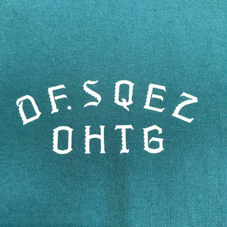 "OHTHEGUILT / DF.SQEZ 007 ""SCREEN PRINT"" T-SHIRT(アイビーグリーン)"