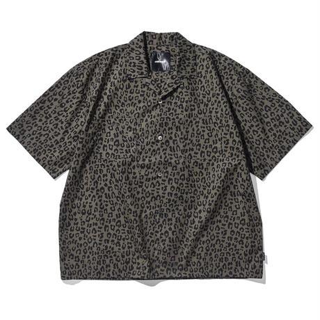 Oh!theGuilt / S/S LEOPARD OPEN COLLAR SHIRT (OLIVE)