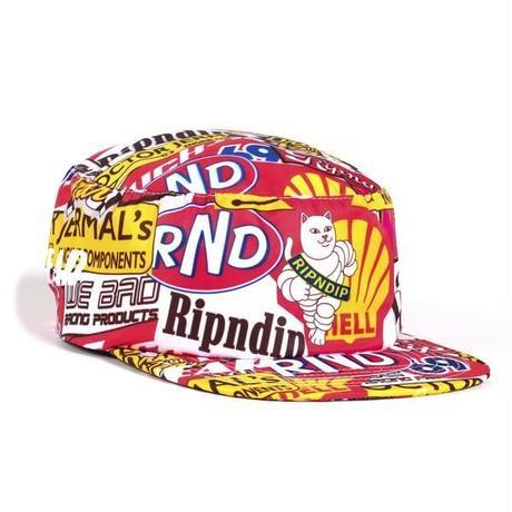 RIPNDIP | RACING NYLON PAINTERS CAP (MULTI)