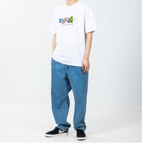 XLARGE   S/S TEE MULTI COLOR COLLEGE LOGO(WHITE)