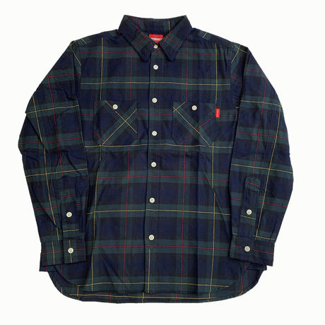 Oh!theGuilt / REAL WORK FLANNEL SHIRT (ネイビー/レッド/イエロー)