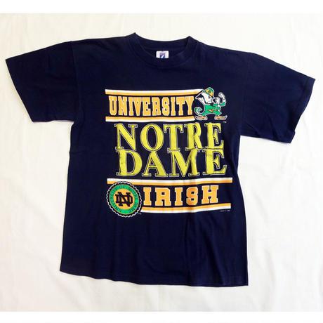 USED (古着)NOTREDAME UNIVERSITY Tシャツ(ネイビー)