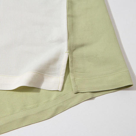 COCOLO BLAND / TWO TONE CAMP SHIRTS (GREEN/CREAM)