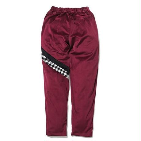 SON OF THE CHEESE | check Jersey pants (WINE)