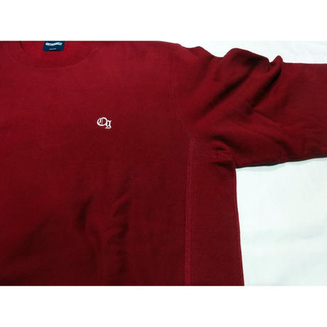 "Oh!theGuilt:""og""EMBROIDERY CREW SWEAT(バーガンディー)"
