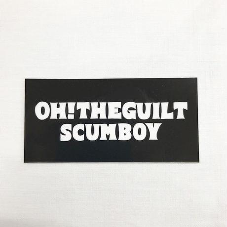 OH!THEGUILT/SCUMBOY 005 STICKER (ブラックロゴ)