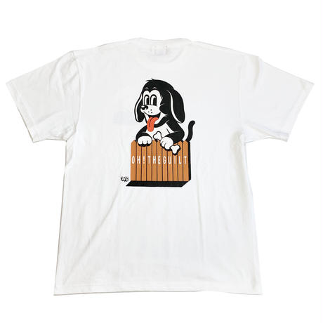 "Oh!theGuilt | W.C Johnny 007 : ""DOGGY"" S/S T-SHIRT (ホワイト)"