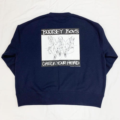 "Oh!theGuilt別注 LIFERS×SCUMBOY TATOO×NO CARE :""BOOTSEY BOYS"" CREW SWEAT(ネイビー)"