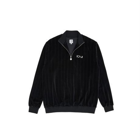 POLAR SKATE CO. / VELOUR ZIP NECK SWEATSHIRT (BLACK)