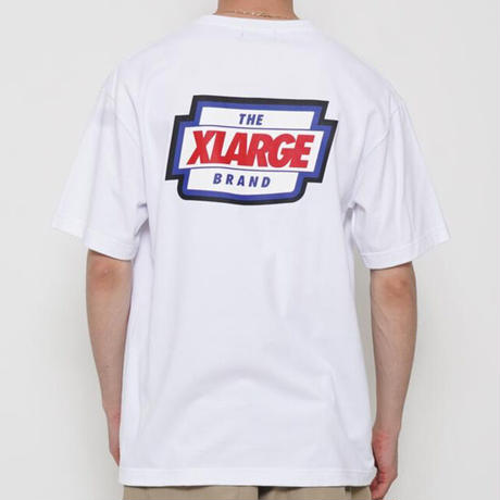 XLARGE|S/S POCKET TEE LOGO MARK (WHITE)