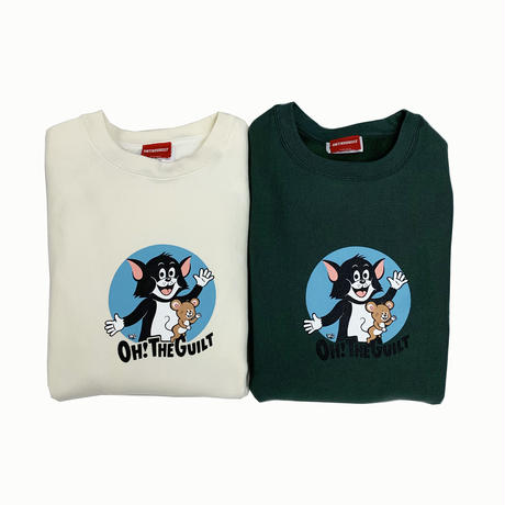 "Oh!theGuilt / W.C Johnny 009 ""C&M(CAT&MOUSE)"" CREW SWEAT(ALPINE GREEN グリーン)"