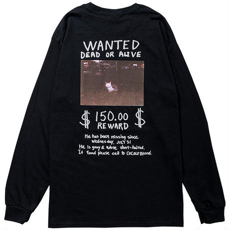 COCOLO BLAND / MISSING CAT L/S TEE(BLACK)