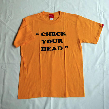 "Oh!theGuilt | ""CHECK YOUR HEAD"" S/S T-SHIRT(ゴールド)"
