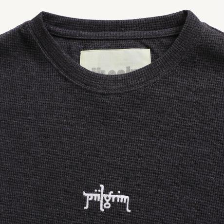 Piilgrim | WAFFLE S/S TEE(BLACK)