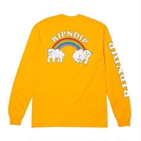 RIPNDIP | DOUBLE NERM RAINBOW L/S (GOLD)
