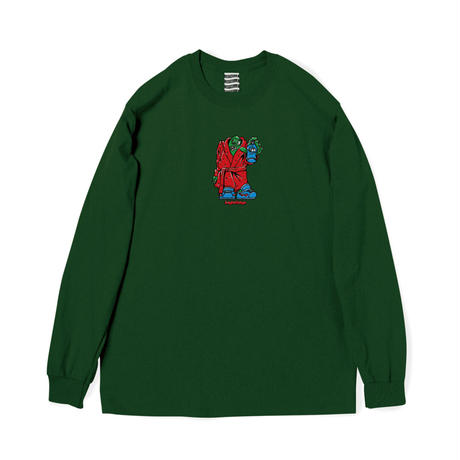 SAYHELLO / Old Style L/S Tee (Forest)