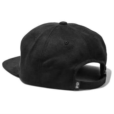 坩堝 | YARN DYED SUEDE 6 PANEL CAP (BLACK)