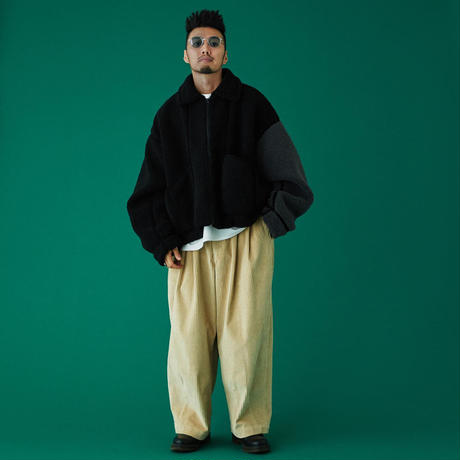 TIGHTBOOTH / CORD BAGGY PANTS (Beige)