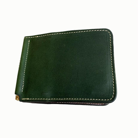 """Oh!theGuilt / """"MO MONEY""""LEATHER WALLET  (グリーン/ブラウン)"""