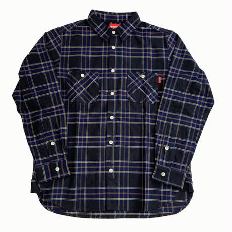 Oh!theGuilt / REAL WORK FLANNEL SHIRT (ネイビー/ブラウン/イエロー)