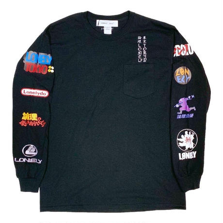 LONELY論理 | #11 FAKE SPONSORED L/S TEE (BLACK)