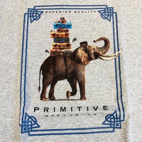 PRIMITIVE : ELEPHANT S/S TEE (HEATHER GRAY)