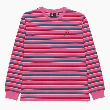 by Parra | flapping flag long sleeve t-shirt (pink)
