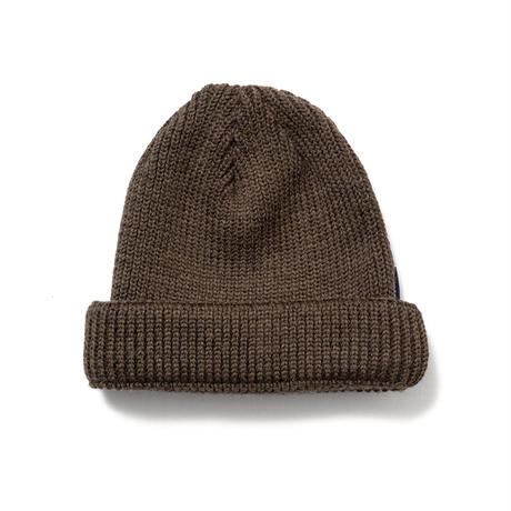 SON OF THE CHEESE | WOOL BEANIE short (BROWN)