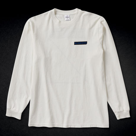 NUMBERS EDITION / LOGOTYPE - L/S T-SHIRT (WHITE)