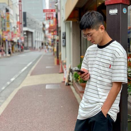 "Oh!theGuilt:""BORDER POCKET"" S/S T-SHIRT(ホワイト)"