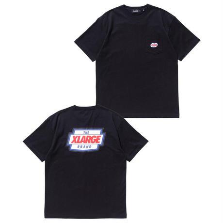 XLARGE|S/S POCKET TEE LOGO MARK (BLACK)