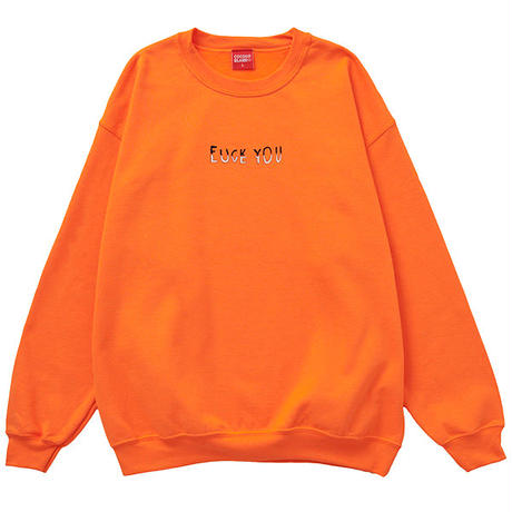 COCOLO BLAND / FUCK & LUV CREW SWEAT (NEON ORANGE)
