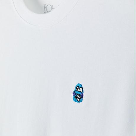 POLAR SKATE CO. /  DANE FACE TEE (WHITE)
