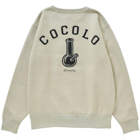 COCOLO BLAND / BACK BONG HEAVY CREWNECK (LIGHT BEIGE)