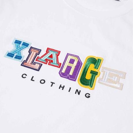 XLARGE | S/S TEE MULTI COLOR COLLEGE LOGO(BLACK)