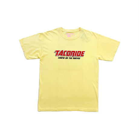 TACORIDE | BEER LOGO S/S TEE (LT YELLOW)