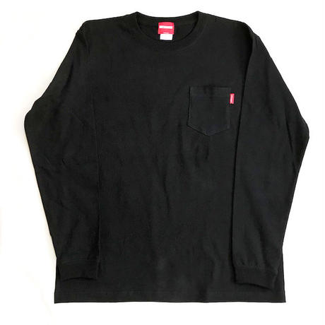 Oh!theGuilt:BASIC POCKET L/S T-SHIRT(ブラック)