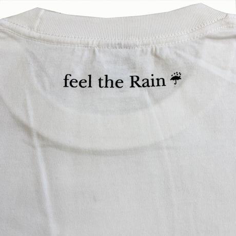 """μ'sRawell / """"feel the rain ☔︎good vibes only"""" S/S TEE (WHITE)"""