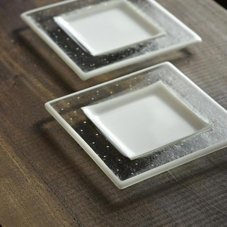 plate「泡のリム皿(小)」戸島 邦子 031376-1-310