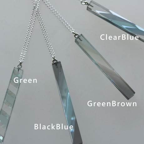 necklace「Bar Clear Blue」小島 有香子 024072-1-330